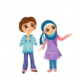 طراحی کاراکترهای موسسه کودکان هوشمند (ایران منار)