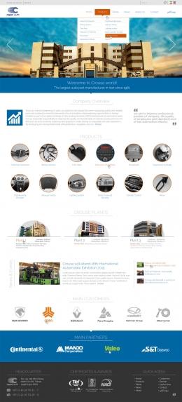 طراحی وب سایت شرکت کروز
